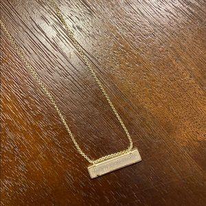 Gorgeous Gold and White Stone Kendra Scott Necklce